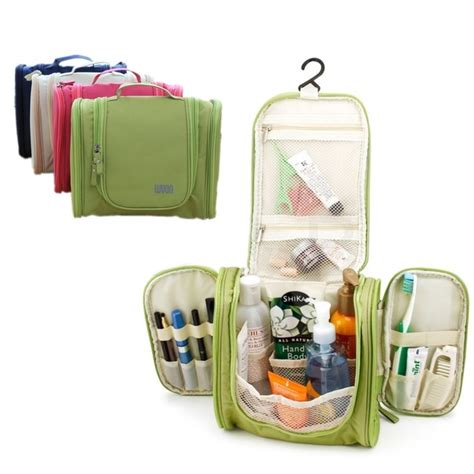 Promo 5 In 1 Travel Toiletries Kit 1 Set Isi 5 Pcs Botol portable large storage folding waterproof polyester hanging travel accessories and