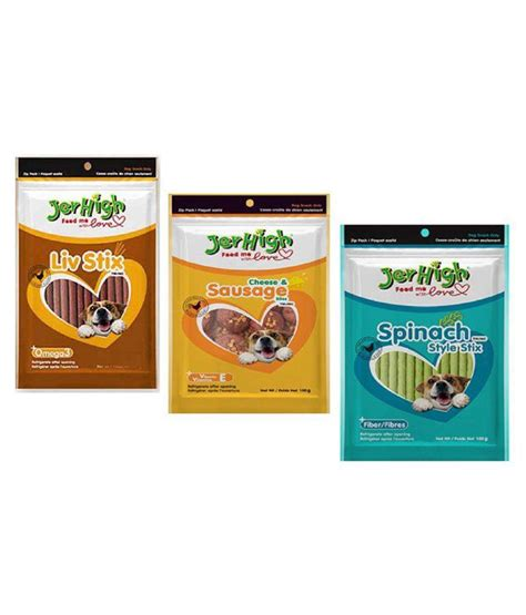 Jerhigh Cheesesausage 100gr jerhigh cheese and sausage liv stix and spinach multi chicken pet food pack of 3 buy jerhigh