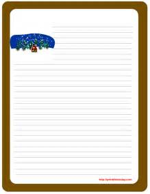 Printable Letter Writing Paper Free Winter Writing Paper