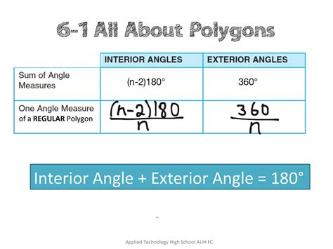 Interior Angle Formula by Exterior Angle Equation Jennarocca