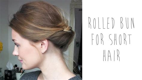 low bun with short hair hair tutorial rolled bun for short hair tinytwisst