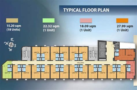 Typical Office Floor Plan by Forbes Hall Dormitory Condo Investment Propertymart Ph