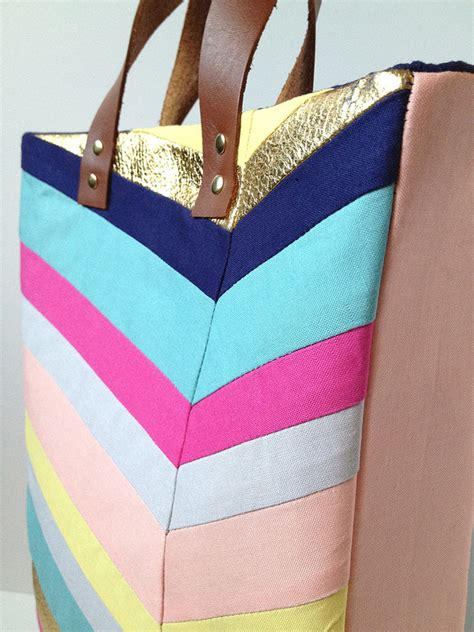 artist bag pattern fabric paper glue try this art inspired chevron tote bag