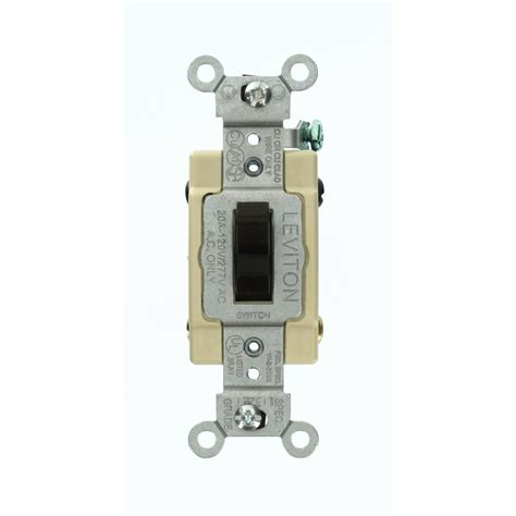 The Switch Brown leviton 20 industrial grade heavy duty 4 way toggle switch brown 1224 s the home depot