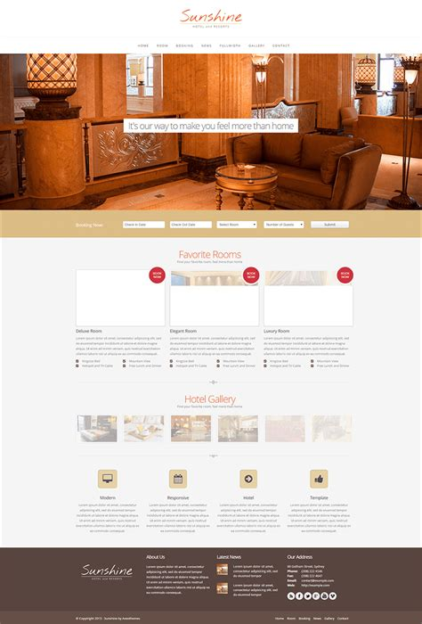 responsive template 10 hotel php themes templates free premium templates