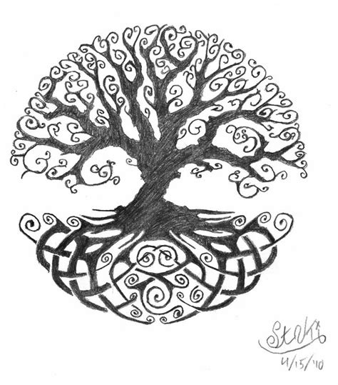celtic tree tattoo designs tree of designs