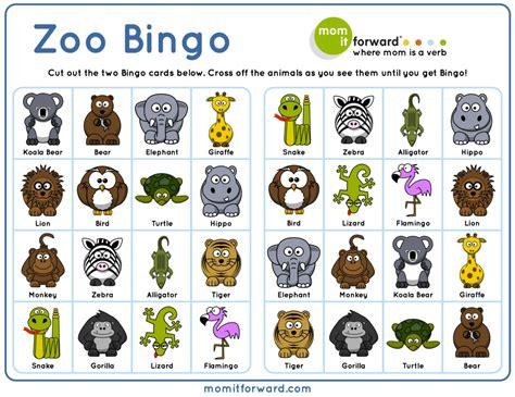 Printable Animal Bingo | adorable zoo bingo free printable to help your family play