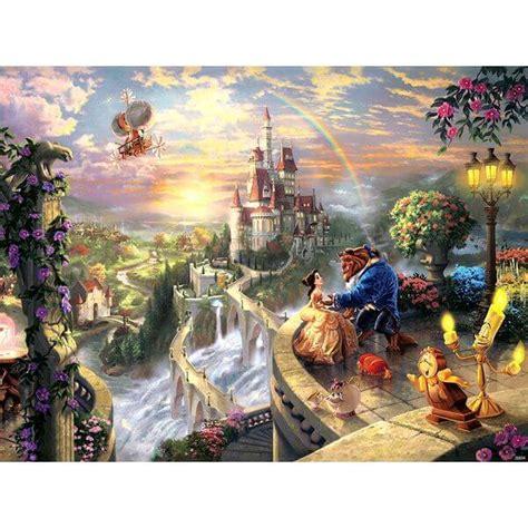1449453562 thomas kinkade the disney dreams thomas kinkade the disney dreams collection beauty and the