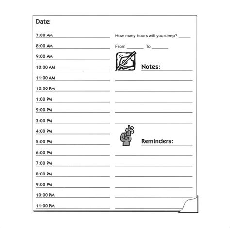 daily hourly planner template hourly schedule template 10 free sle exle format
