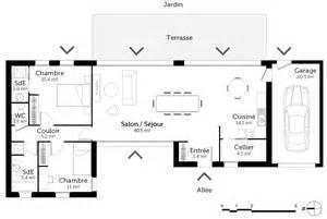 plan plain pied avec 2 chambres et garage ooreka