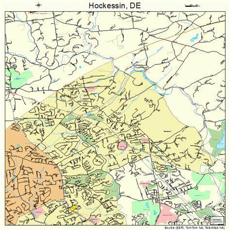 hockessin delaware street map 1035850