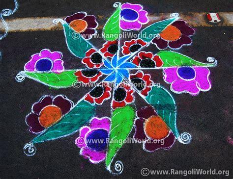 leaf pattern rangoli ganesh chaturthi rangoli designs 2015