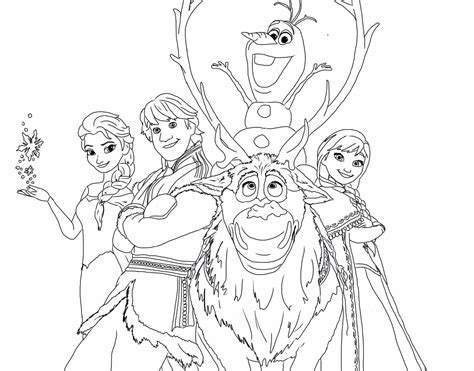 Frozen happy family free coloring page disney frozen
