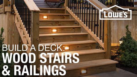 build  deck wood stairs railings
