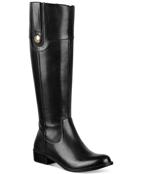 black boots wide calf hilfiger dalyn wide calf boots in black lyst