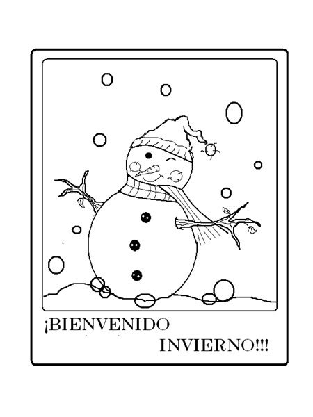 imagenes vacaciones de invierno para colorear dibujos de 161 bienvenido invierno para colorear mu 241 ecos de
