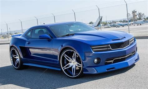 widebody camaro forgiato wide camaro shows up in blue
