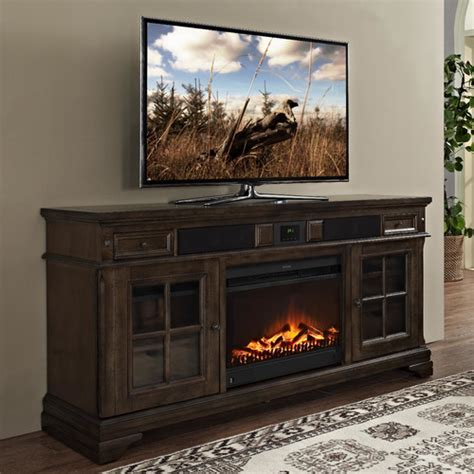Electric Fireplace Tv Stand Turnkey Llc Chelsea 66 Quot Tv Console With Surround Sound And Fireplace Reviews Wayfair