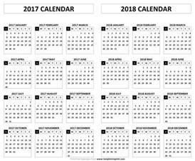 2017 And 2018 Calendar Printable 2017 2018 Calendar Printable Template Pdf Holidays And