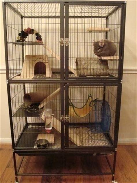 cage  complete  ramps shelves    hammock    fuzzy friend