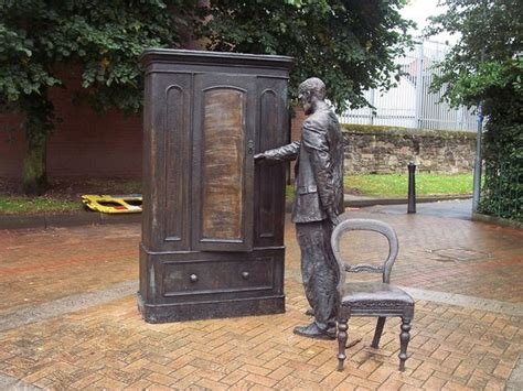 Cs Lewis Wardrobe by The Searcher Cs Lewis Wardrobe Statue Belfast Northern