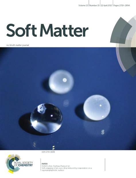 soft matter physics of fluids publications highlights