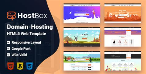 Hostbox Whmcs Html Responsive Professional Clean And Creative Hosting And Multipurpose Professional Responsive Website Templates