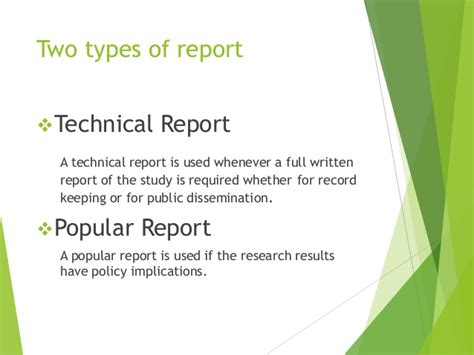 Difference Between Essay And Technical Report by Type Of Reports