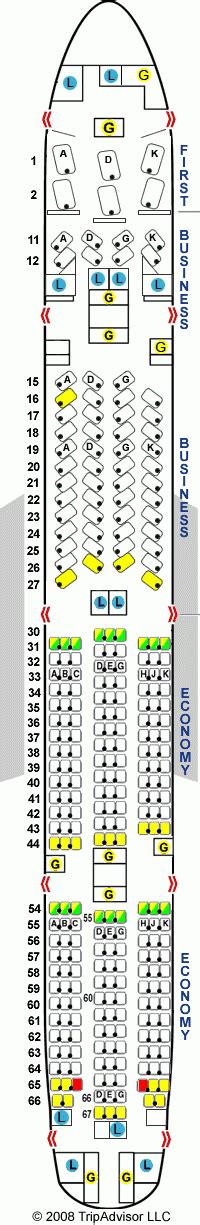 Seating Plan Boeing 777 300er Cathay Pacific