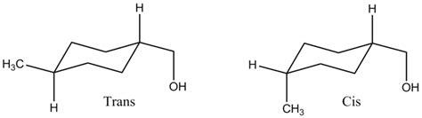 Chair Cyclohexane by File Cis And Trans 1 Methyl 4 Hydroxymethyl Cyclohexane