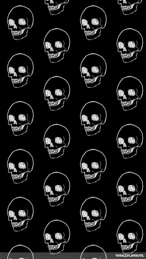 whatsapp wallpaper black and white white line on black skulls whatsapp wallpaper skull