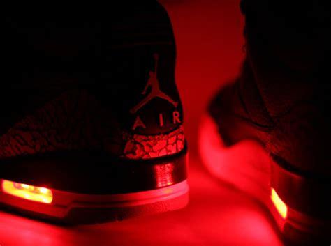 jordan light up shoes air jordan iii quot light up quot customs by evolved footwear
