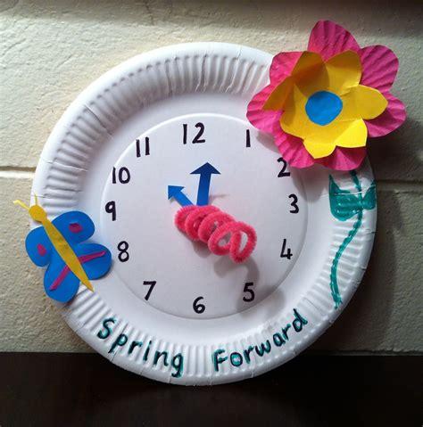 clock craft project forward craft relief teaching ideas