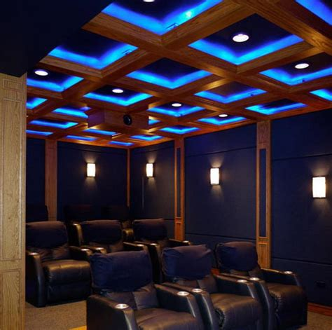 Home Theater Ceiling Lighting 20 Cool Basement Ceiling Ideas Hative