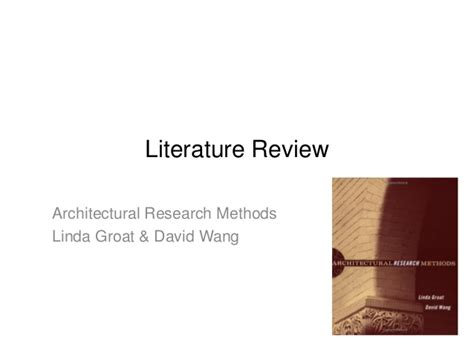 Literature Review For Research Methods by Research Methods In Architecture Literature Review البحث المعمارى