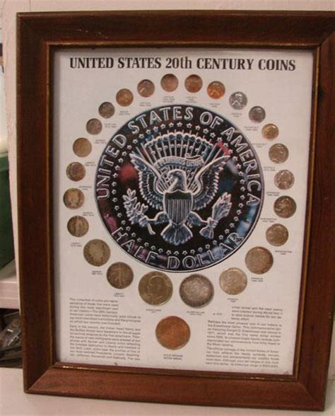 20th Century Coins Framed by 20th Century Coins Of United States Framed Glass