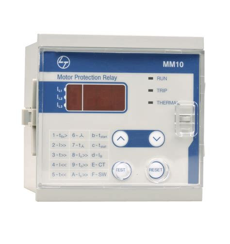 motor protection relay mm10 electrical automation l t india