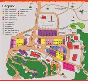 map of cgrounds in colorado royal view at royal gorge cground facilities map
