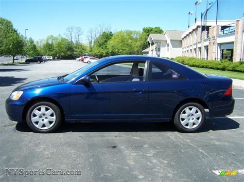 2002 honda civic coupe 2002 honda civic ex coupe in eternal blue pearl photo 3