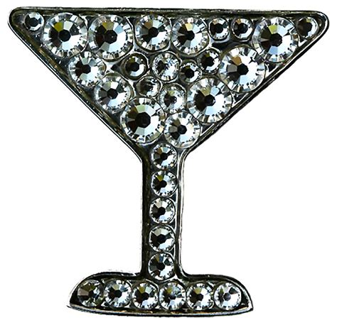 martini clear swarovski martini clear marker and your choice of