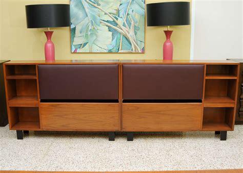 headboard cabinet classic george nelson walnut king headboard cabinet at 1stdibs