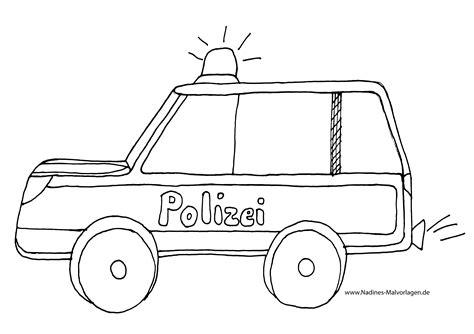 Polizeiauto Zum Malen by Polizeiauto Mit Blaulicht Ausmalbild Nadines Ausmalbilder