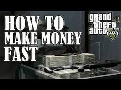 How To Make Money Fast Gta 5 Online - gta 5 online how to make money fast and rank up fast 3 quick ways 100 000 per