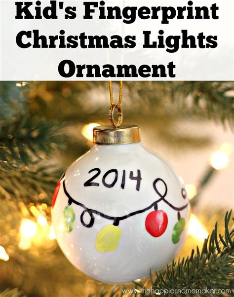 child made christmas ornaments diy kid s fingerprint ornament the happier homemaker