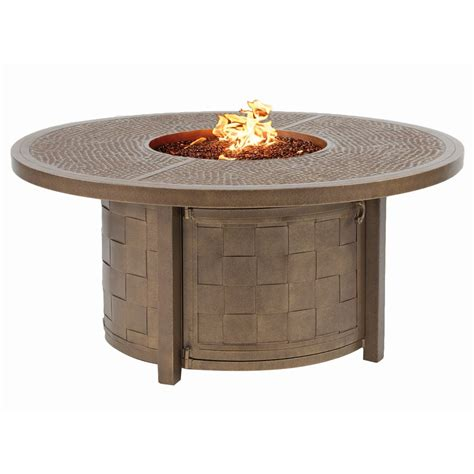 Castelle Resort Fire Pit 49'' Round Coffee Table   Outdoor