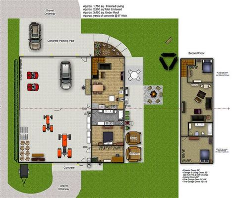 shop with living quarters plans the o jays garage and journals on pinterest