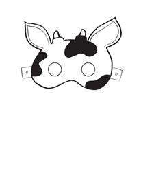 fil a cow mask template cow mask template costume cow mask mask