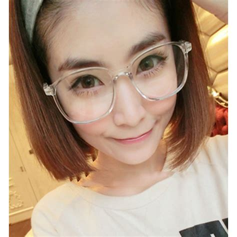 Korean Glasses Kacamata Korea Murah Oval Fashion Trendy Hitam Kaca Ben 2017 vintage retro glasses frame designer oculos eyeglasses frame luxury