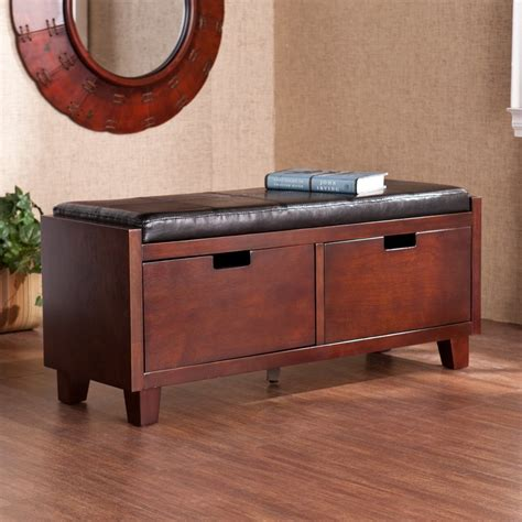 Indoor Storage Bench Shop Boston Loft Furnishings Lucia Transitional Espresso Storage Bench At Lowes