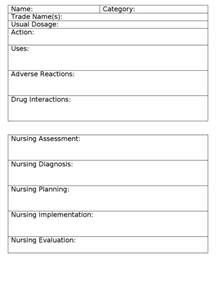 medication card template card card template